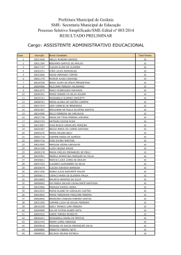 Resultado Preliminar-Assistente Administrativo Educacional