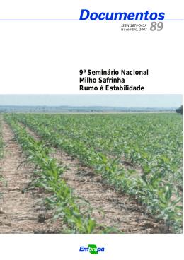 9º Seminário Nacional Milho Safrinha Rumo à - Ainfo