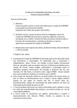 IV ENALIC//III SEMINÁRIO NACIONAL DO PIDID Plenária Sudeste