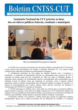 Seminário Nacional da CUT prioriza as lutas dos servidores