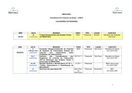 (Calendário_PPTB_10 set 2012) - Ministério das Relações Exteriores