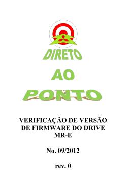 [Direto ao Ponto] Verificação de Versão de Firmware do Drive MR-E