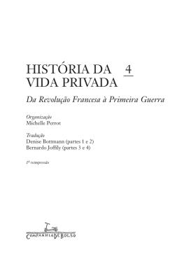 HISTÓRIA DA VIDA PRIVADA
