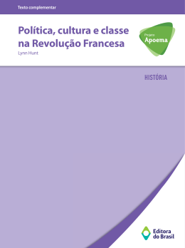 Política, cultura e classe na Revolução Francesa