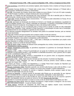 A Revolução Francesa (1789 – 1799)