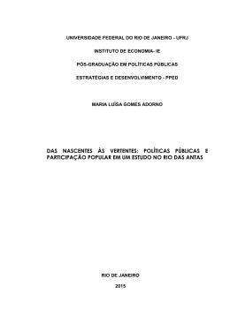 um estudo do Rio - Instituto de Economia da UFRJ
