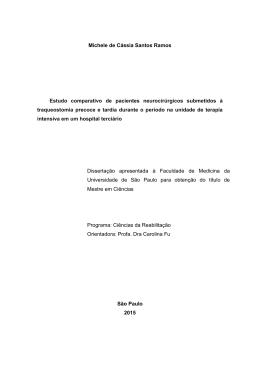 Michele de Cássia Santos Ramos Estudo comparativo de pacientes