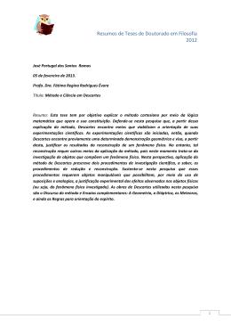 Resumo José Portugal dos Santos Ramos