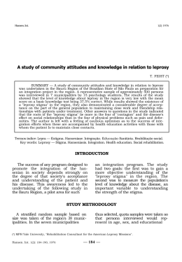 A study of community attitudes and knowledge in relation to leprosy