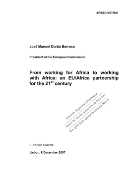 From working for Africa to working with Africa: an EU