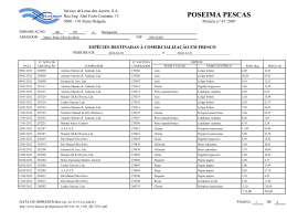POSEIMA PESCAS - Serviço de Lotas dos Açores