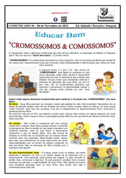 COMUNICADO 36 – 06 de Novembro de 2015 Ed. Infantil / Berçário