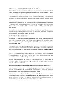CACAU SHOW – A MANEIRA DOCE DE TER SEU PRÓPRIO