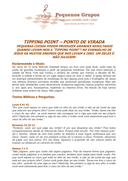 TIPPING POINT – PONTO DE VIRADA