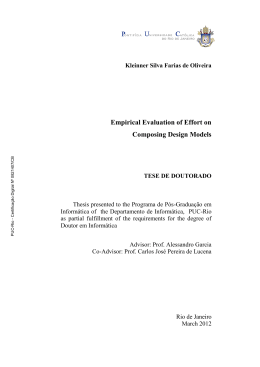 Empirical Evaluation of Effort on Composing Design Models