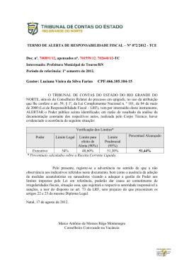 Gestor: Luciana Vieira da Silva Farias CPF:466.105.104-15