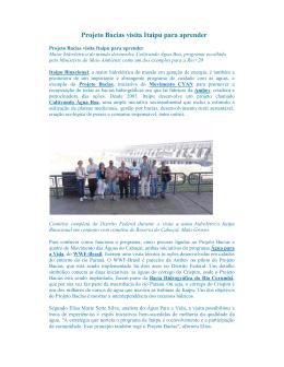 Projeto Bacias visita Itaipu para aprender