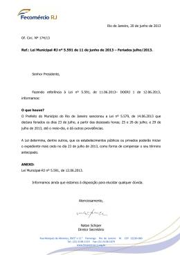 Ofício Circular Nº 174/13