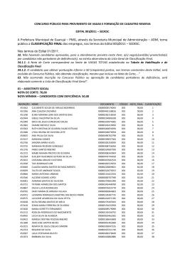 A Prefeitura Municipal de Guarujá – PMG, através da