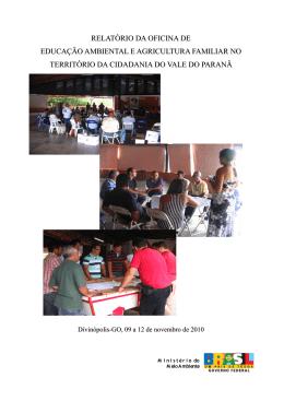 relatório da oficina de educação ambiental e agricultura familiar no