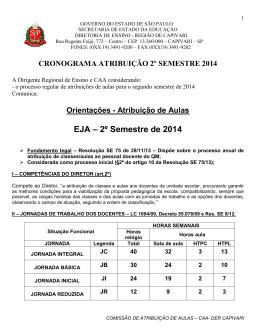 Orientações - Atribuição de Aulas EJA – 2º Semestre de 2014