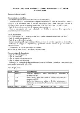 CADASTRAMENTO DE DEPENDENTES PARA - IFRS