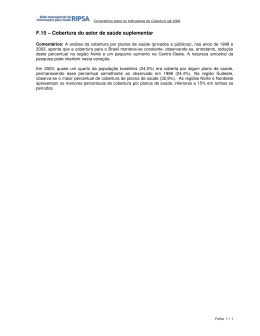F.15 – Cobertura do setor de saúde suplementar
