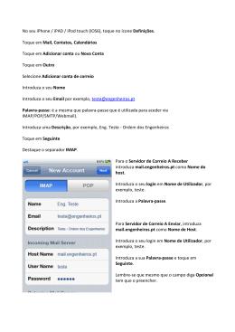 Criar Conta num iPhone/ipad