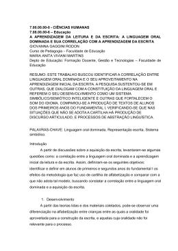A LINGUAGEM ORAL DOMINADA E - PUC-SP