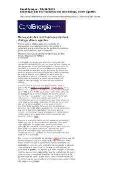 Canal Energia - Instituto Acende Brasil