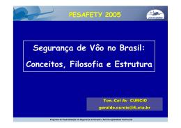 Segurança de Vôo no Brasil - Instituto Tecnológico de Aeronáutica