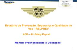 Relatório de Prevenção – ASR