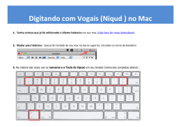 Digitando com Vogais (Niqud ) no Mac