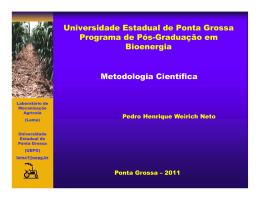 Universidade Estadual de Ponta Grossa Programa de Pós