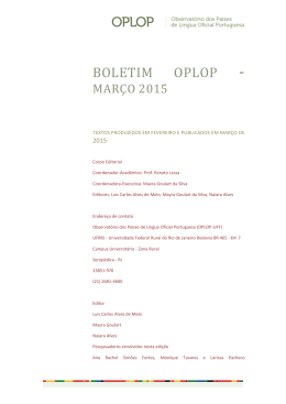 BOLETIM OPLOP -