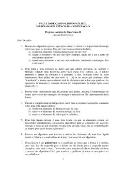 Lista 2 - Faccamp