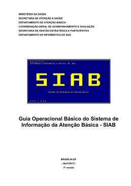 Guia Operacional Basico SIAB2013