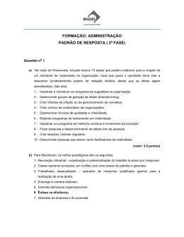 FORMAÇÃO: ADMINISTRAÇÃO PADRÃO DE RESPOSTA ( 2 FASE)