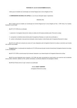 PORTARIA Nº. 54, DE 16 DE SETEMBRO DE 2014. Institui grupo de