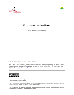29 - A obsessão de John Hunter
