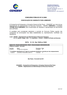 Convocação de candidato para admissão