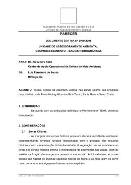 Bacia Hidrográfica Turvo-Santa Rosa - DAT - Ministério Público