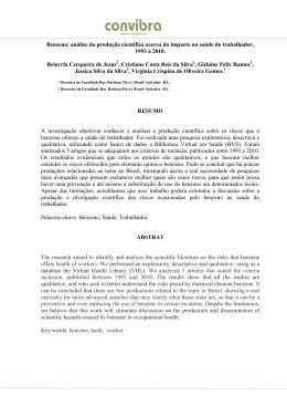 Benzeno: análise da produção científica acerca do