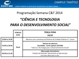 campus timóteo - cefet-mg
