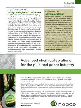 Advanced chemical solutions for the pulp and paper industry
