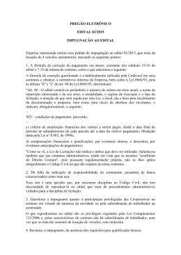 A TCAR SERVIÇOS LTDA – EPP entrou com pedido de