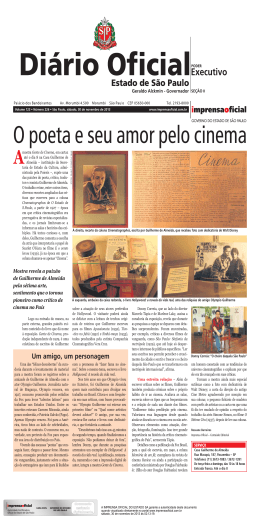 O poeta e seu amor pelo cinema