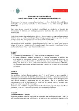 Regulamento - Universidade de Coimbra