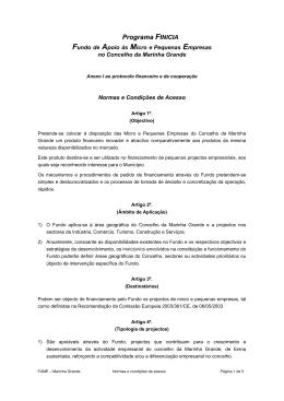 FINICIA_MG - Anexo I Normas e Condicoes de acesso