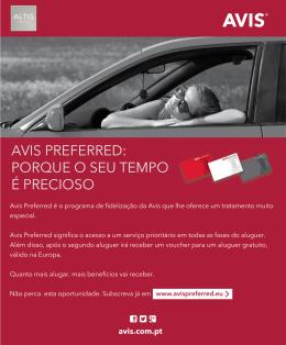 AVIS PREFERRED: PORQUE O SEU TEMPO É PRECIOSO
